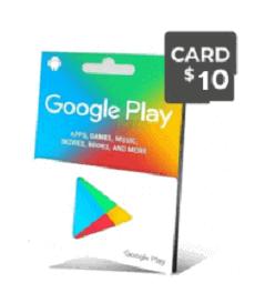 گیفت کارت گوگل 10 دلار - گیفت مکس