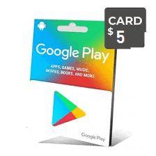 گیفت کارت گوگل 5 دلار - گیفت مکس