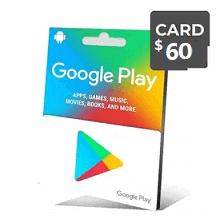 گیفت کارت گوگل 60 دلار - گیفت مکس