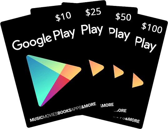 گیفت کارت گوگل پلی