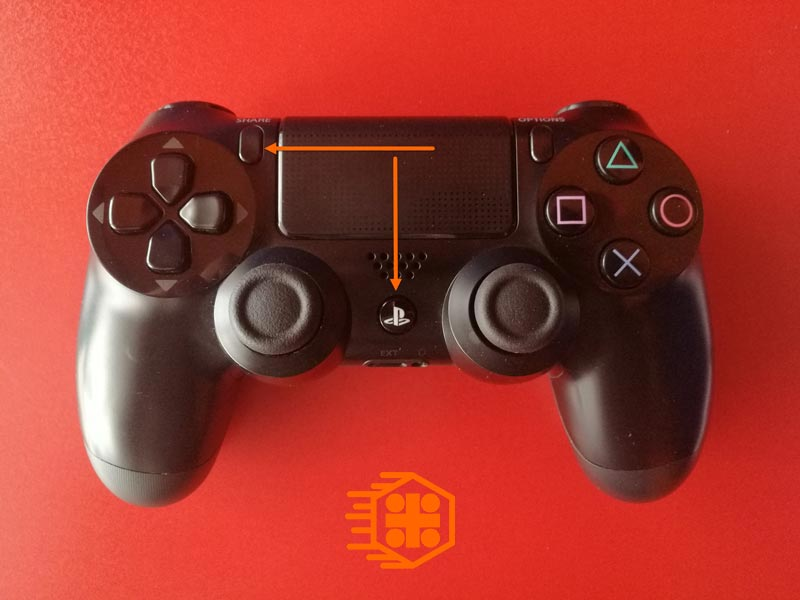 Playstation-and-Share-Button-for-Trun-on-Bluetooth-Dualshock-PS4