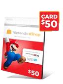 گیفت کارت نینتندو 50 دلاری - گیفت مکس
