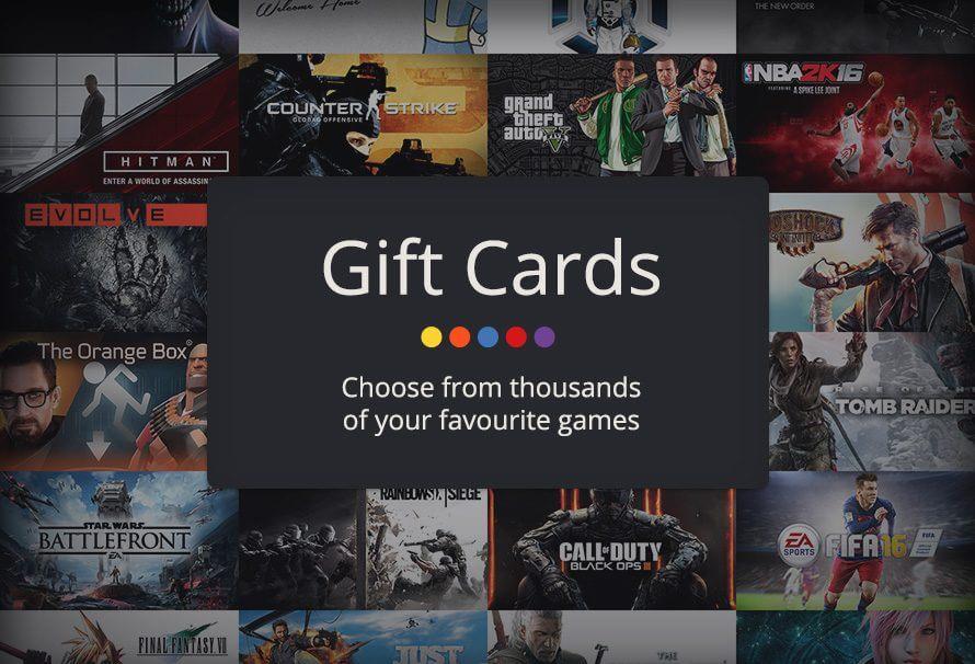 انواع  giftcard ها برای گیمر ها